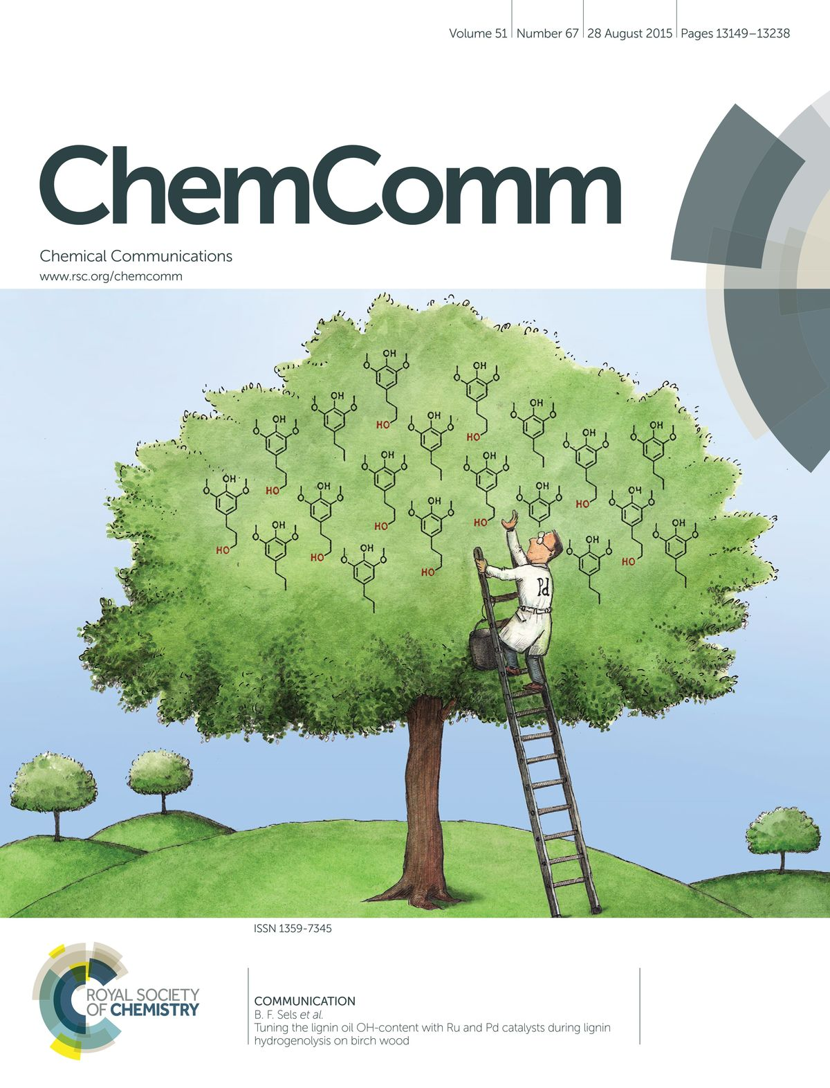 Tuning the lignin oil OH-content with Ru and Pd catalysts during lignin hydrogenolysis on birch wood