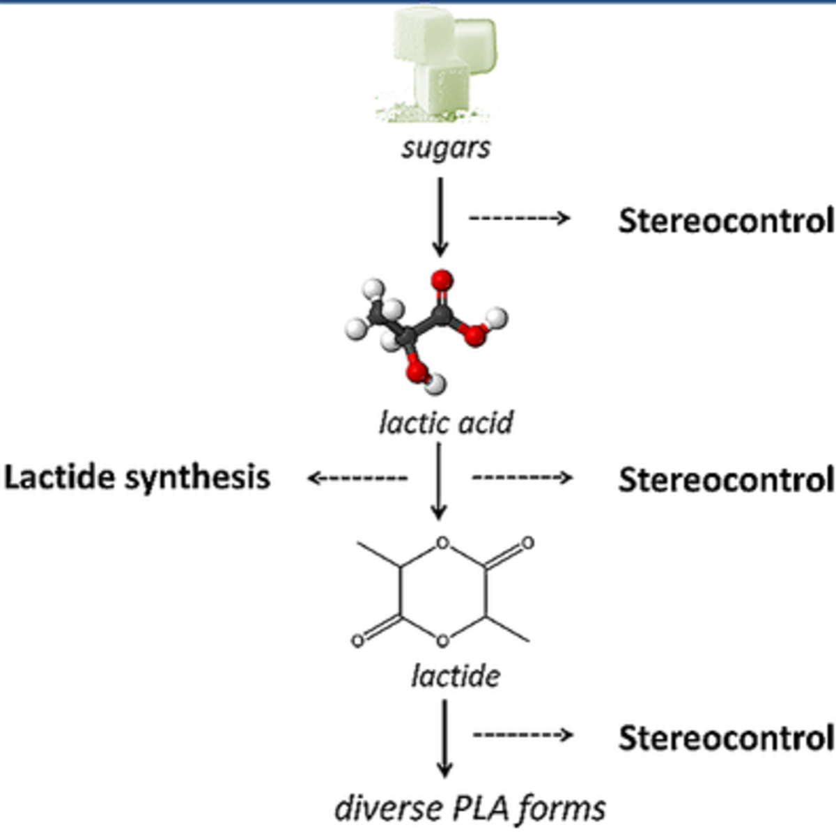 Lactide Synthesis and Chirality Control for Polylactic acid Production